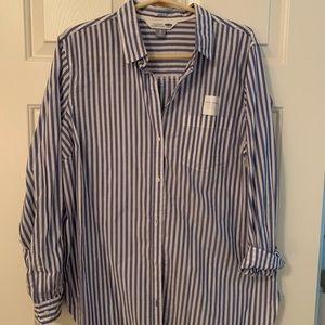 Striped button down shirt. XL.  NWT